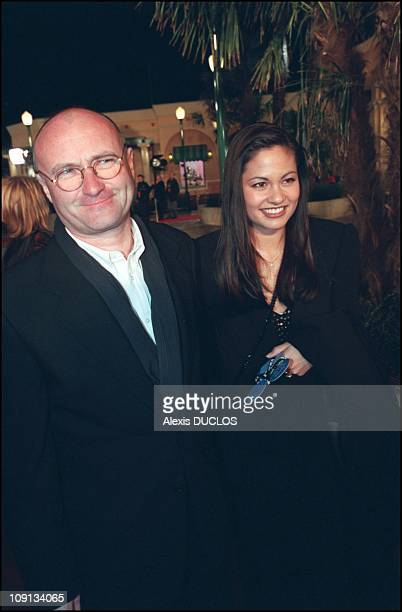 Grand Opening Of The Walt Disney Studios In Marne La Vallee On March 15Th 2002 In MarneLaVallee France Phil Collins Anf Wife