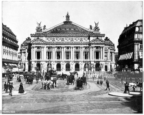 Grand Opera House Paris late 19th century The Palais Garnier inaugurated in 1875 Photograph from Portfolio of Photographs of Famous Scenes Cities and...