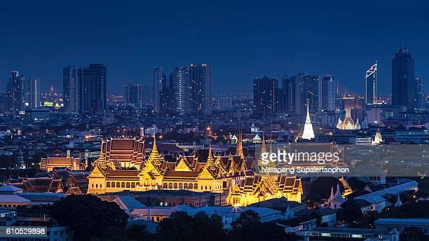 Grand palace among the building, Bangkok
