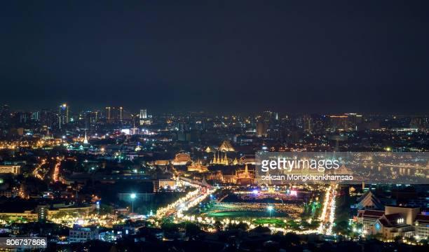 Grand palace and Wat phra keaw at sunset
