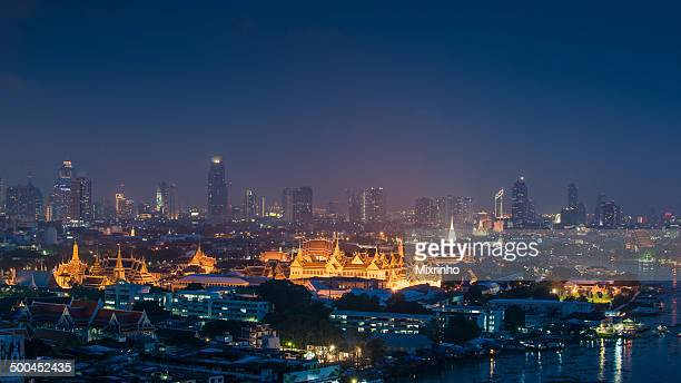 Grand palace Bangkok and Choapraya river