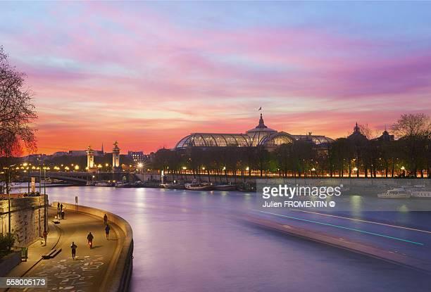 grand palais & pont alexandre iii, paris - pont alexandre iii photos et images de collection