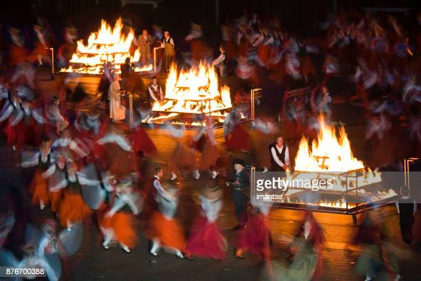 grand performance of the latvian folk dancers - riga stock pictures, royalty-free photos & images