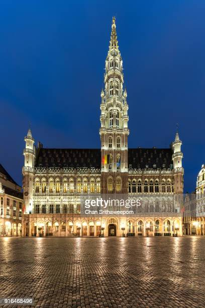 Grand Place and Town Hall, Brussels, Belgium
