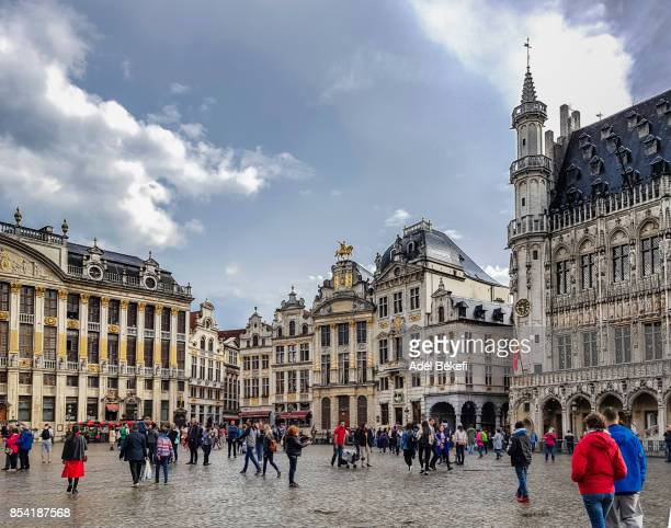 grand place brussels (belgium) - brussels capital region stock pictures, royalty-free photos & images