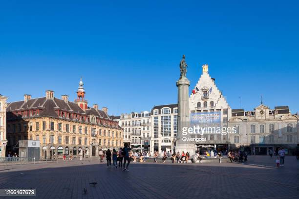 grand place of lille - france lille stock pictures, royalty-free photos & images