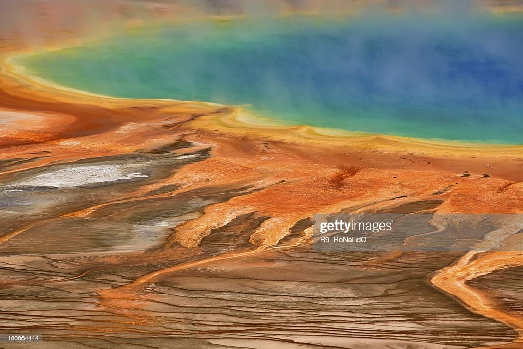 Grand Prismatic Spring in Yellowstone National Park : Stock Photo
