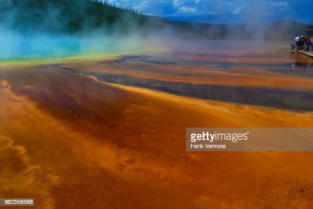 grand prismatic spring - hank vermote stock pictures, royalty-free photos & images
