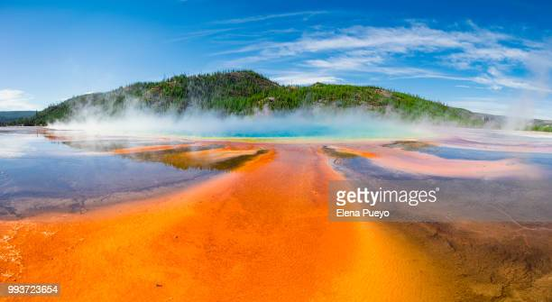 grand prismatic spring - yellowstone national park stock pictures, royalty-free photos & images