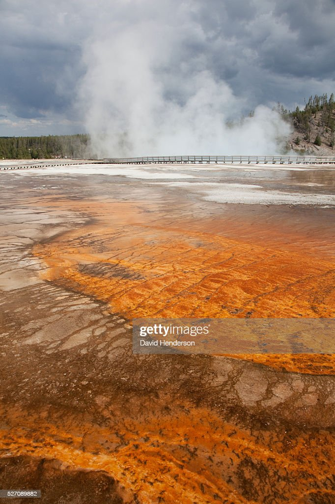 Grand Prismatic Spring, Wyoming, USA : Stock-Foto