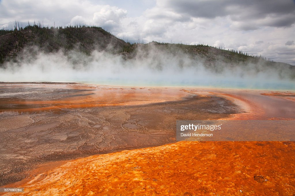Grand Prismatic Spring, Wyoming, USA : Stock Photo