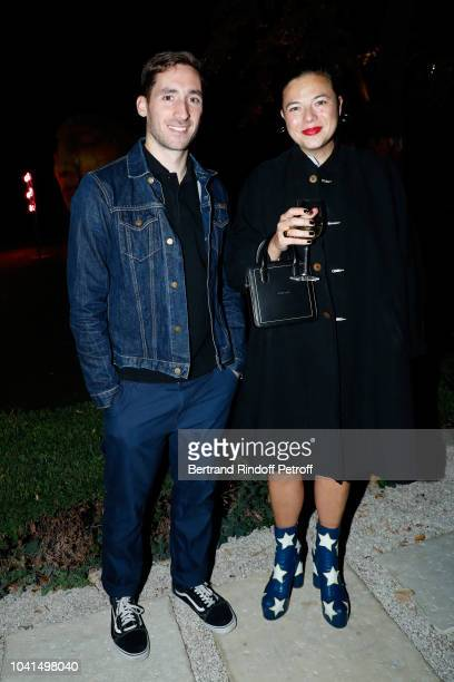 Grand Prix 2018 creator of Atlein Antonin Tron and Fashion Accessories award 2018 Stephanie D'heygere attend the ANDAM Cocktail Party as part of the...
