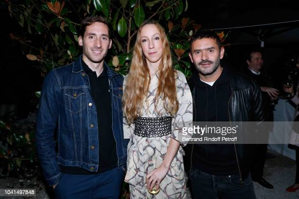Grand Prix creator of Atlein Antonin Tron Iris van Herpen and Alexandre Mattiussi attend the ANDAM Cocktail Party as part of the Paris Fashion Week...