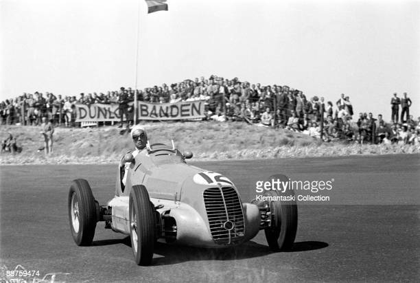 Grand Prix of Zandvoort; Zandvoort, August 7, 1948. �B. Bira� in his venerable Maserati 4CL at this early Dutch Grand Prix which was organized by the...