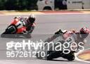 Grand Prix von Malaysia in Shah Kevin Schwantz auf Suzuki 500 ccm li Wayne Rainey auf Yamaha