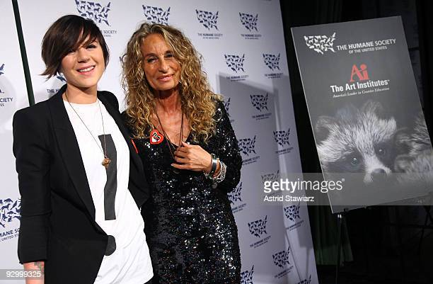 Grand prize winner of the fifth annual Cool vs. Cruel Fur-Free Fashion Design Competition Ingrid Bergstrom-Kendrick and Ann Dexter-Jones attend The...