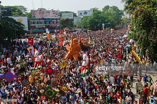 grand rally - bangladesh new year stock photos and pictures