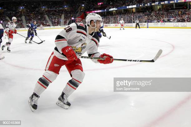 Grand Rapids Griffins left wing Matt Lorito on the ice during the third period of the American Hockey League game between the Grand Rapids Griffins...