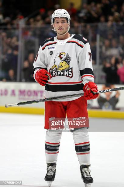 Grand Rapids Griffins right wing Matt Puempel on the ice during the first period of the American Hockey League game between the Grand Rapids Griffins...