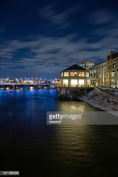 Grand River at Night