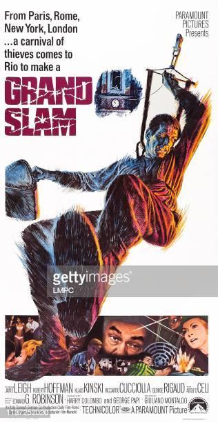 Grand Slam poster US poster top Robert Hoffmann bottom Klaus Kinski Edward G Robinson Janet Leigh 1967