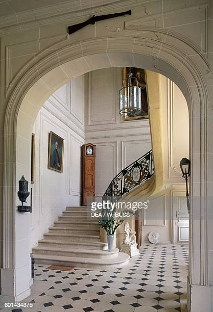 Grand staircase in Chateau de Pange Lorraine France 18th century
