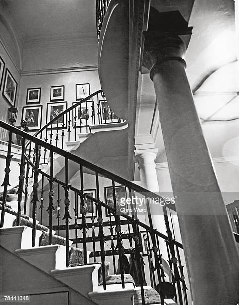 A grand staircase in White's gentleman's club in St James' Street 6th January 1949 Founded by Fred White in 1693 White's lays claim to being the...