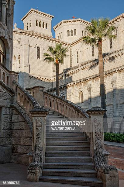 grand staircase of palatial building, monte carlo, monaco - monaco stock pictures, royalty-free photos & images