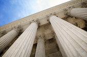 Grand Stone Columns of USA Supreme Court Building Washington DC