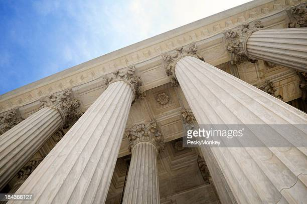 Grand Stone Columns of USA Supreme Court Building Washington DC