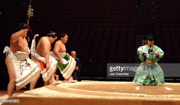 Grand Sumo Championships opening ceremony during Grand Sumo Championships at Mandaly Bay October 6 2005 at Mandalay Bay Las Vegas in Las Vegas Nevada...