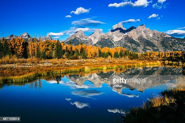 grand teton autumn beauty - september stock pictures, royalty-free photos & images