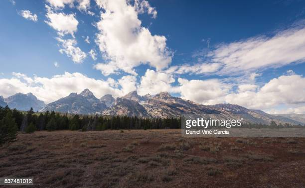 Grand Teton Mountain Range Panorama