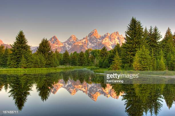 grand teton mountains - jackson hole stock pictures, royalty-free photos & images
