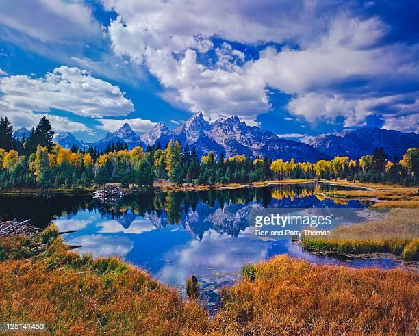 グランドティトン国立公園 - ティトン山脈 ストックフォトと画像