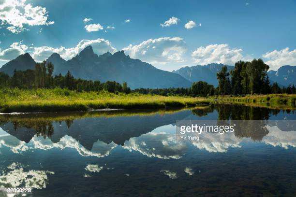 Grand Teton National Park Snake River and Mountain Range