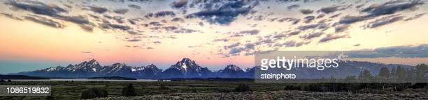 grand tetons at sunrise - grand teton national park stock pictures, royalty-free photos & images