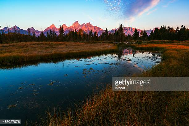 Grand Tetons autumn sunrise