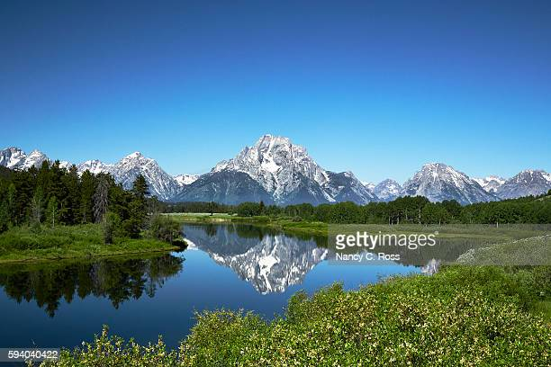 Grand Tetons from Oxbow Bend, Wyoming