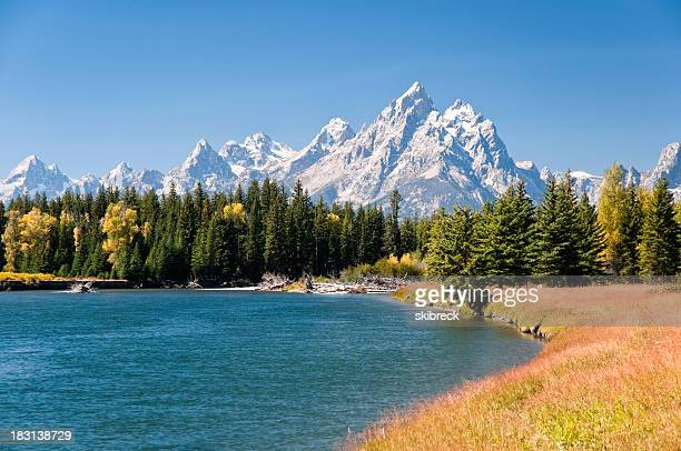 Grand Tetons Mountains und der Snake River