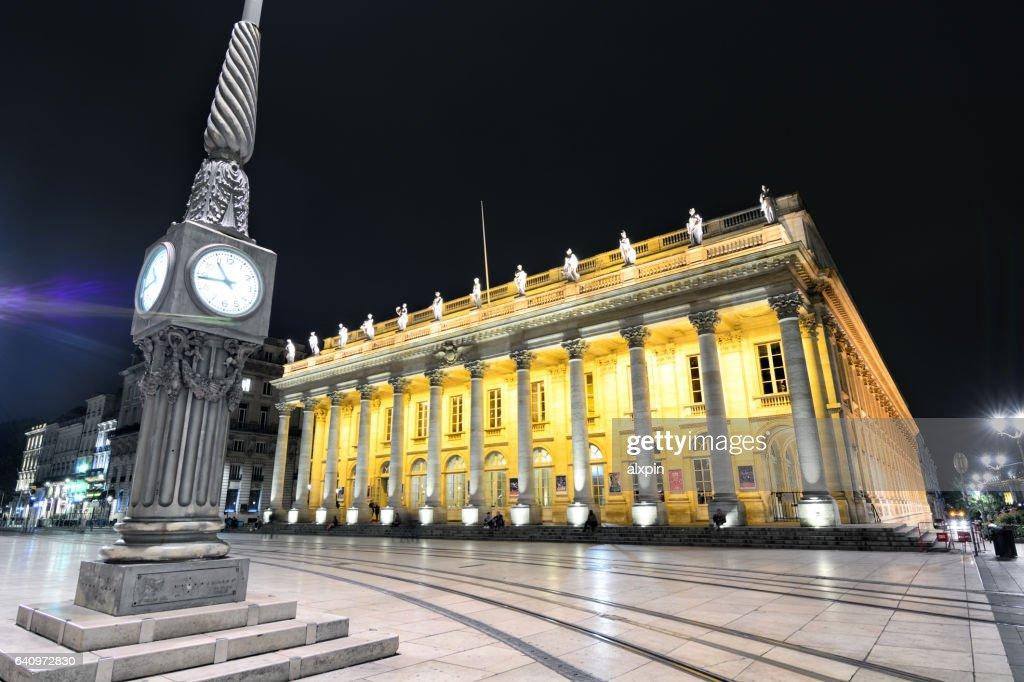 Grand Theatre de Bordeaux, France : Stock Photo