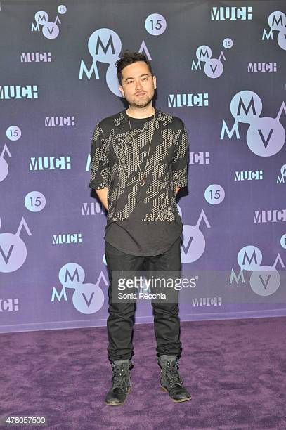 Grand Thefts poses in the press room at the 2015 MuchMusic Video Awards at MuchMusic HQ on June 21, 2015 in Toronto, Canada.