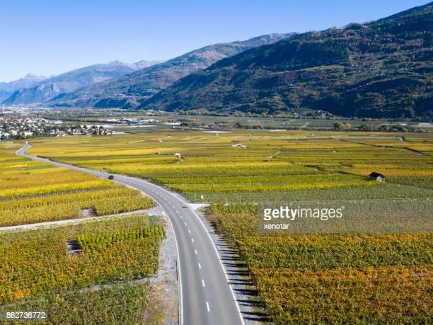 Grand tour of wine road in Switzerland