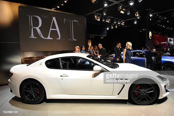 A Grand Turismo MC Stradale car by Italian carmaker Maserati is displayed during the press days of the Paris Motor Show on September 30 2010 The show...
