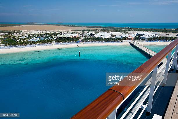 grand turks main port - cruise stock pictures, royalty-free photos & images