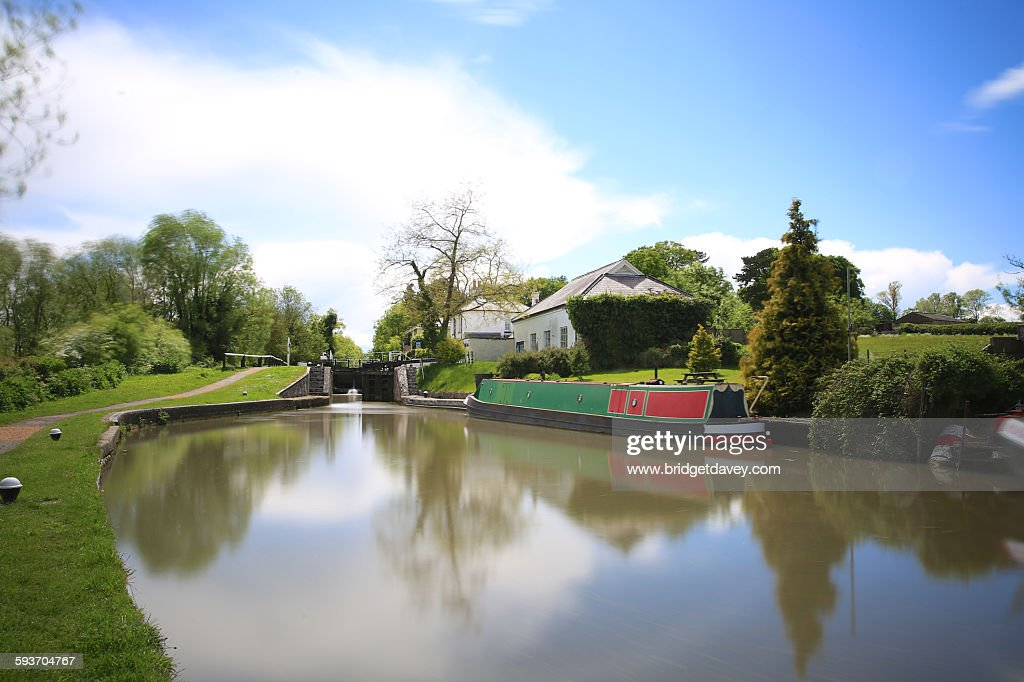 Grand union canal in Leighton Buzzard : Stock Photo