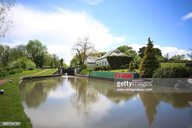 grand union canal in leighton buzzard - bedfordshire stock photos and pictures