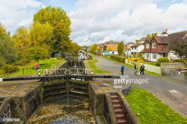 grand union canal - hemel hempstead stock photos and pictures