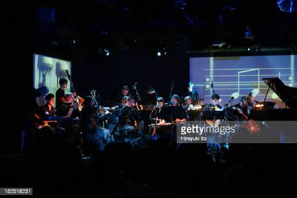 Grand Valley State University New Music Ensemble performing Terry Riley's 'In C Remixed' at Le Poisson Rouge on Sunday night November 8 2009