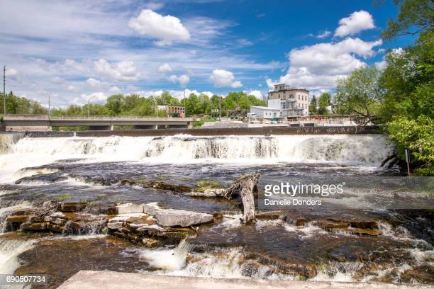 Grand waterfall on the Mississippi River in Almonte, Ontario